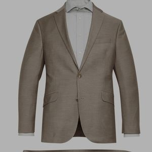 Kenneth Cole Reaction Slim Brown Suit Jacket 36S